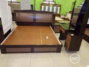 5 By 7 Foreign Bed With 2 Side Drawers And Dressing Mirror   Furniture for sale in Rivers State, Port-Harcourt
