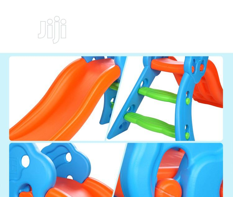 Children Playground Plastic Slides With Basketball Hoop(Blue | Toys for sale in Surulere, Lagos State, Nigeria