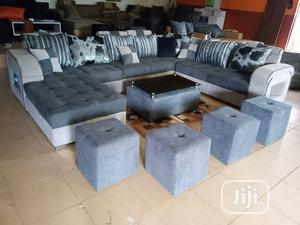 U-Shape Sofa Chairs With Table and Stools - Fabric Couch | Furniture for sale in Lagos State, Alimosho
