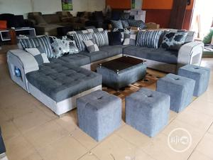 U-Shape Sofa Chairs With Table and Stools - Fabric Couch | Furniture for sale in Lagos State, Isolo