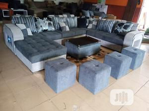 U-Shape Sofa Chairs With Table and Stools - Fabric Couch | Furniture for sale in Lagos State, Ipaja