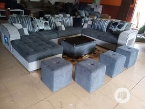 U-Shape Sofa Chairs With Table and Stools - Fabric Couch | Furniture for sale in Lagos State, Maryland