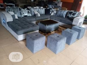 U-Shape Sofa Chairs With Table and Stools - Fabric Couch | Furniture for sale in Lagos State, Mushin
