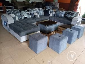 U-Shape Sofa Chairs With Table and Stools - Fabric Couch | Furniture for sale in Lagos State, Ojodu