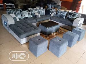U-Shape Sofa Chairs With Table and Stools - Fabric Couch | Furniture for sale in Lagos State, Ojota