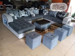 U-Shape Sofa Chairs With Table and Stools - Fabric Couch | Furniture for sale in Lagos State, Oshodi