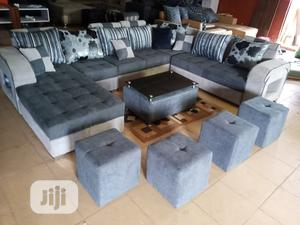 U-Shape Sofa Chairs With Table and Stools - Fabric Couch | Furniture for sale in Lagos State, Shomolu
