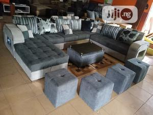 U-Shape Sofa Chairs With Table and Stools - Fabric Couch | Furniture for sale in Lagos State, Victoria Island