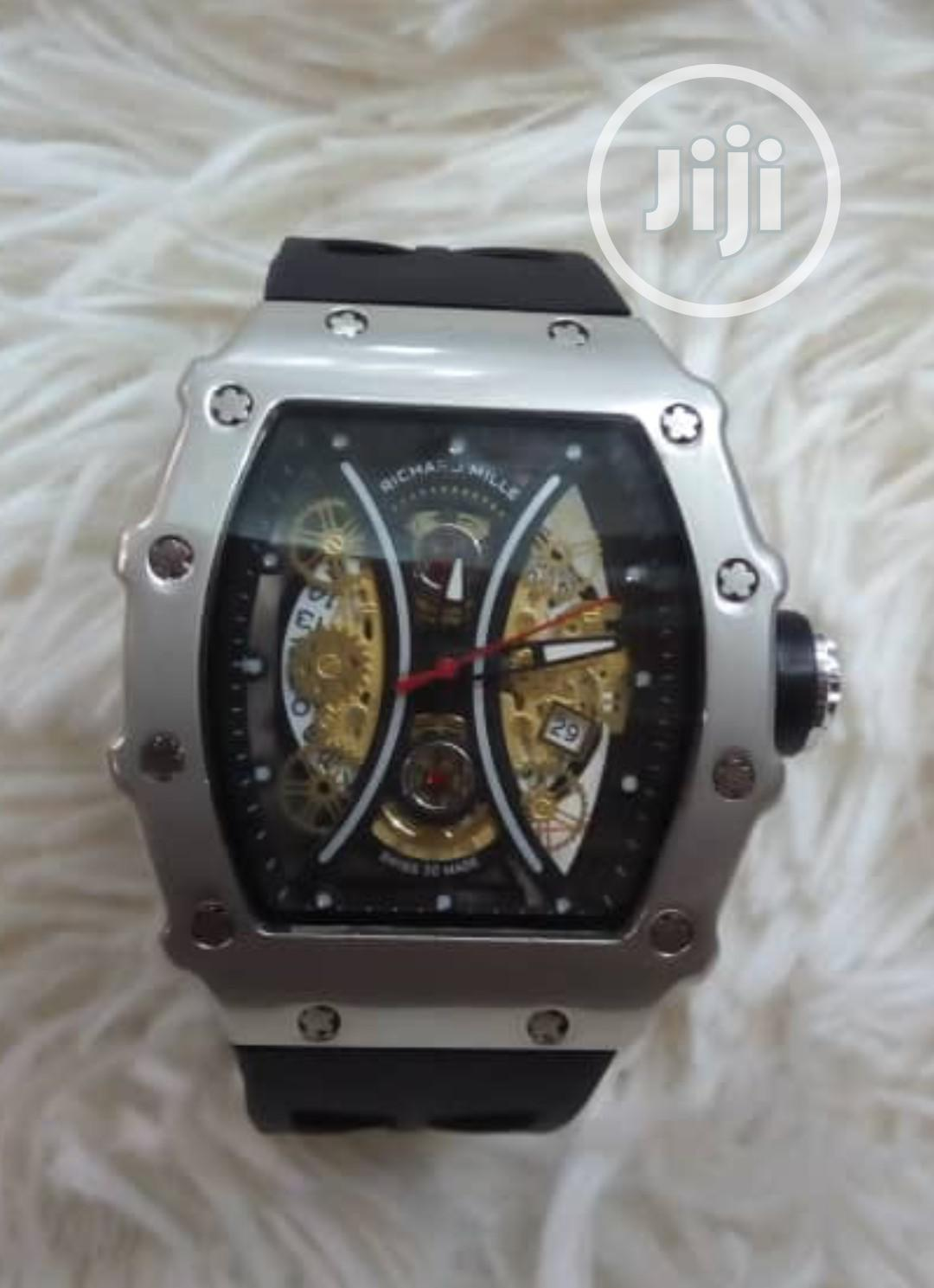 Richard Mille Men's Black Rubber Wristwatch   Watches for sale in Surulere, Lagos State, Nigeria