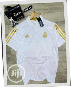 Real Madrid Official White Polo Shirt | Clothing for sale in Lagos State, Surulere