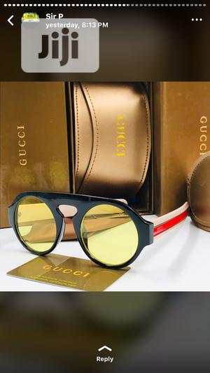 Black and Yellow Shade Gucci Designer Sunglasses | Clothing Accessories for sale in Lagos State, Lagos Island (Eko)