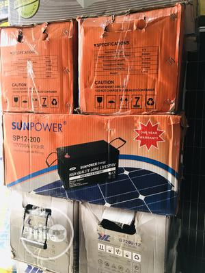 200ah 12volts Sun Power Solar Battery | Solar Energy for sale in Lagos State, Isolo