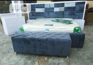 6×6 Padded Bedframe With Orthopaedic Spring Mattress | Furniture for sale in Lagos State, Ojo