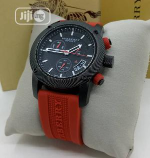 Burberry Chronograph Rubber Strap Watch Watch | Watches for sale in Lagos State, Lagos Island (Eko)