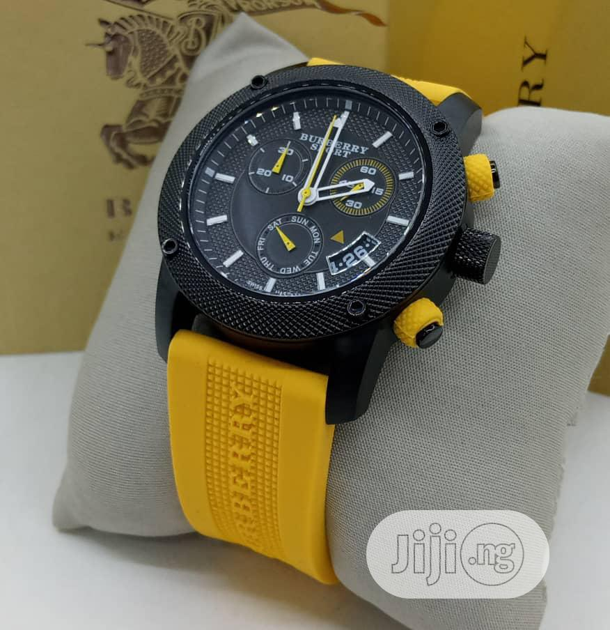 Burberry Chronograph Rubber Strap Watch