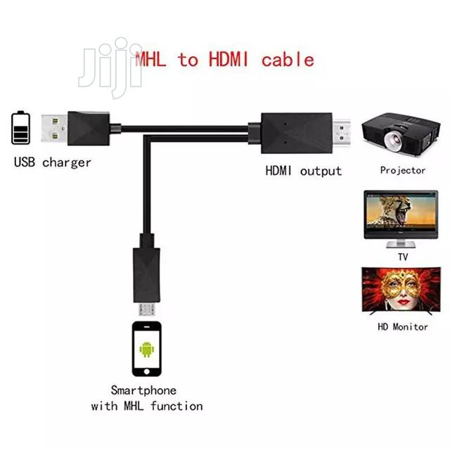 1.8M Micro USB Mhl To HDMI Cable 1080P HD TV Cables Adapter