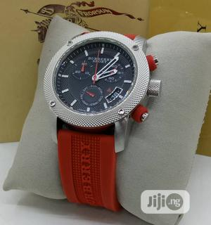 Burberry Chronograph Rubber Strap Watch | Watches for sale in Lagos State, Lagos Island (Eko)