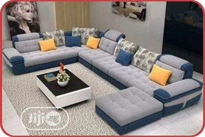 L-shaped Sofa With Center Table For Sale   Furniture for sale in Lagos State, Apapa