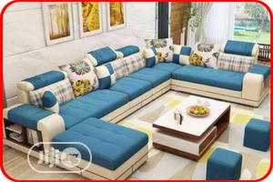 L-shaped Sofa With Center Table For Sale   Furniture for sale in Lagos State, Ikoyi
