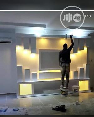 Wallpapers,Tv Shelf Wall Console,Wall Mural 3D Wallpapers | Building & Trades Services for sale in Lagos State, Ajah