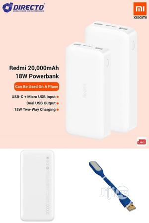 Xiaomi Redmi 20,000mah 18W Power Bank + Free USB Led Light   Accessories for Mobile Phones & Tablets for sale in Lagos State, Amuwo-Odofin