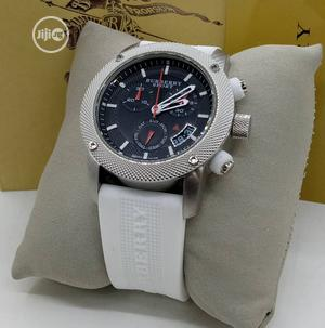Burberry Chronograph White Rubber Strap Watch | Watches for sale in Lagos State, Lagos Island (Eko)
