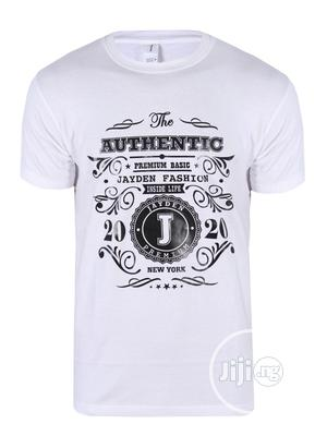 Jayden Apparelkare Printed T-Shirt White | Clothing for sale in Lagos State, Surulere