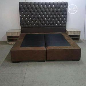 Padded Modern Bed Frame | Furniture for sale in Lagos State, Ikorodu