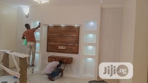 Tv Wall False Design. Wallpaper, 3d Panel. | Building & Trades Services for sale in Lagos State, Lagos Island (Eko)