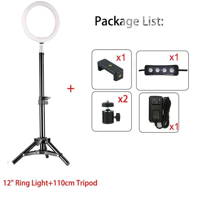12inch Dimmable LED Studio Camera Ring Light