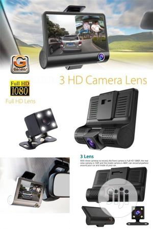 Car DVR Camera Video Recorder 3in1- Front, Inside Rear Cam   Security & Surveillance for sale in Lagos State, Ikeja