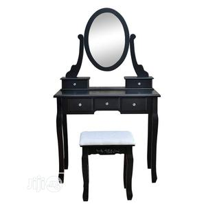 Best Quality Dresser With Oval Mirror and Stool | Furniture for sale in Lagos State, Ikeja