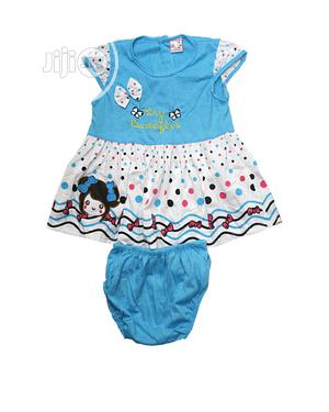 Baby Girl'S Two Pieces, Dress and Pant-Blue,Red,Orange,Pink | Children's Clothing for sale in Lagos State, Ojota