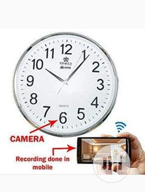 Spy Wall Clock Camera (With Long Wi-Fi Coverage) | Security & Surveillance for sale in Lagos State, Ojo