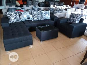 L-Shape Sofa, Single Chair and Centre Table. Fabric Couch   Furniture for sale in Lagos State, Agege