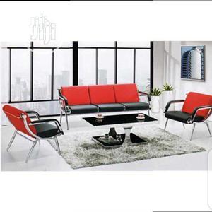 Best Quality Orange and Black Pin Leg Sofa   Furniture for sale in Lagos State, Lagos Island (Eko)