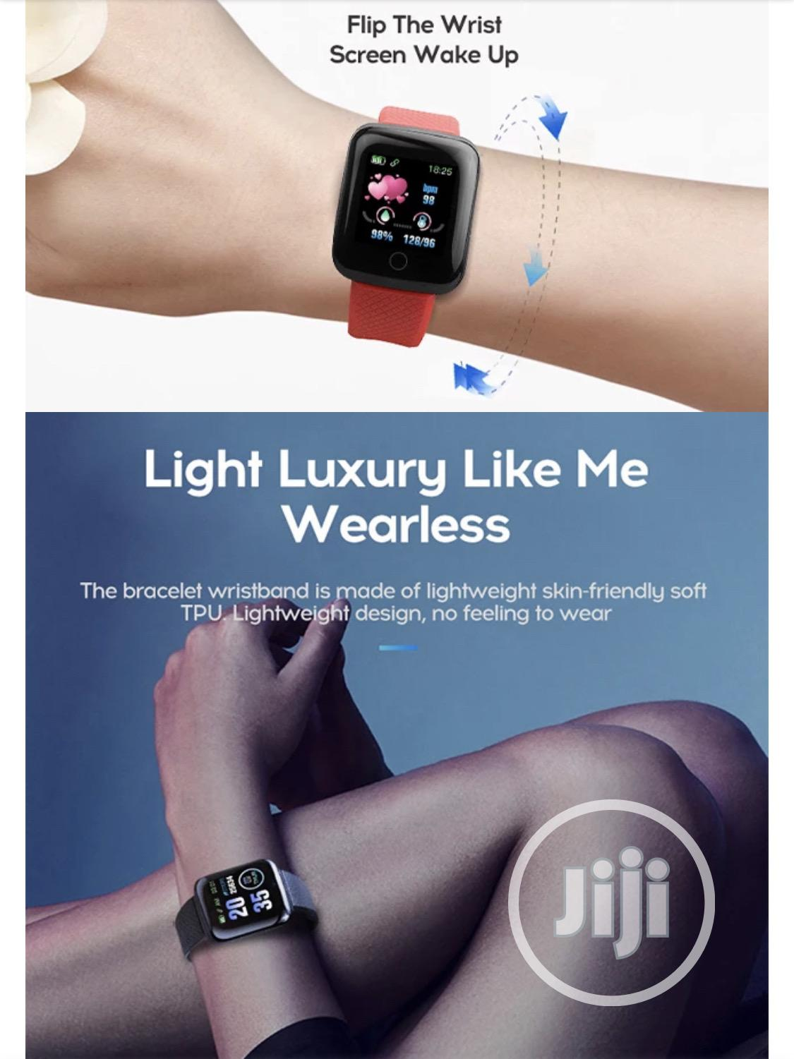 Waterproof Smart Bracelet Wristwatch For Men And Women | Smart Watches & Trackers for sale in Ajah, Lagos State, Nigeria