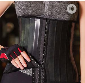 Glossy Rubber 25-bone Latex Waist Trainer Training Corset | Sports Equipment for sale in Lagos State, Surulere