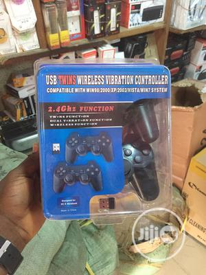 USB Twins Wireless Vibration Game Controller | Accessories & Supplies for Electronics for sale in Lagos State, Ikeja