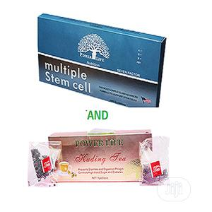 Powerlife Multiple Stem Cell+Kuding Tea Combo | Vitamins & Supplements for sale in Lagos State, Surulere