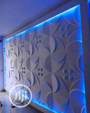Tv Wall. Pop Ceiling, 3d Panel. Wallpaper. E.T. C | Building & Trades Services for sale in Lagos State, Ikeja