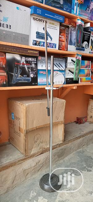 Mic Stand Silver And Black   Musical Instruments & Gear for sale in Lagos State, Ojo