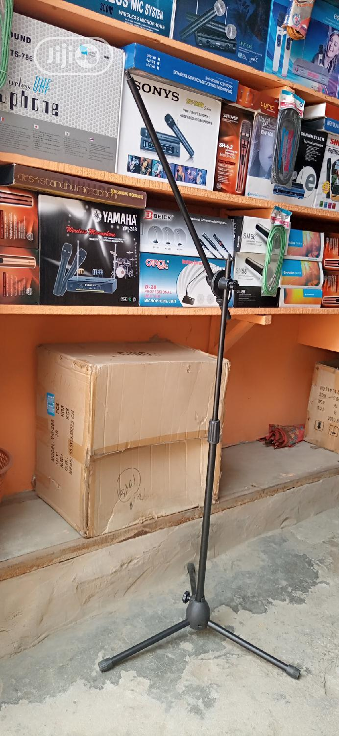 Mic Stand Silver And Black   Musical Instruments & Gear for sale in Ojo, Lagos State, Nigeria