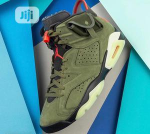 Air Jordan 6 Retro GS Travis Scott Olive Green Original | Shoes for sale in Lagos State, Surulere