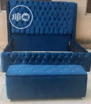 6x6 Upholstery Bed With Foot Rest Only | Furniture for sale in Lagos State, Ojo