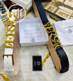 Versace Leather Belt For Men's | Clothing Accessories for sale in Lagos State, Lagos Island (Eko)