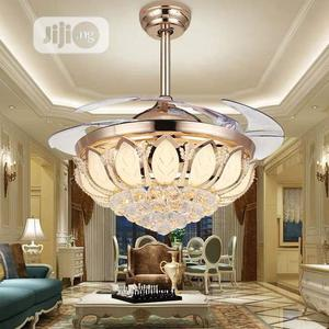 Crystal Chandelier Ceiling Fan Wit Remote Controlwith3 Colo   Home Accessories for sale in Abuja (FCT) State, Central Business District