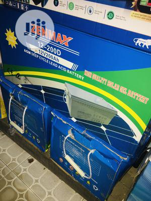 200ah 12v Zenmax Battery Available With 1yr Warranty | Solar Energy for sale in Lagos State, Ikeja