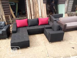 Quality L_shape Sofa With a Single Chair   Furniture for sale in Lagos State, Ikeja