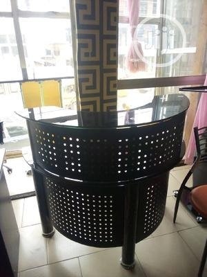 Unique 2 Step Glass Reception Table With Mobile Drawer. | Furniture for sale in Lagos State, Ikeja
